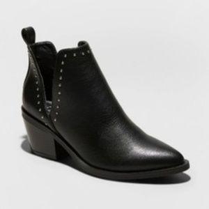 Joann Faux Leather Studded V Cut Bootie